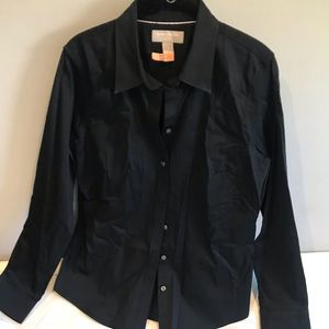 Banana Republic black collar shirt